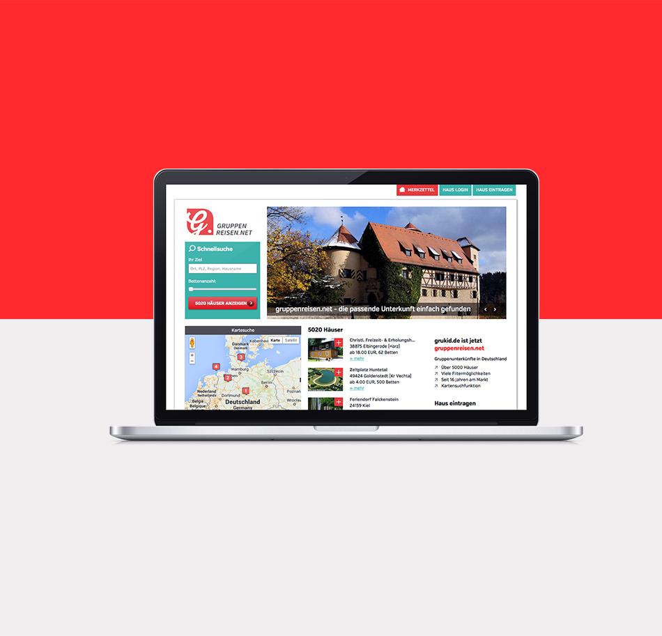 Website Gruppenreisen
