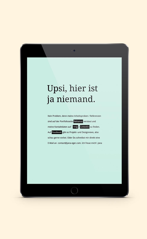 Website Jana Eger Wartungsseite
