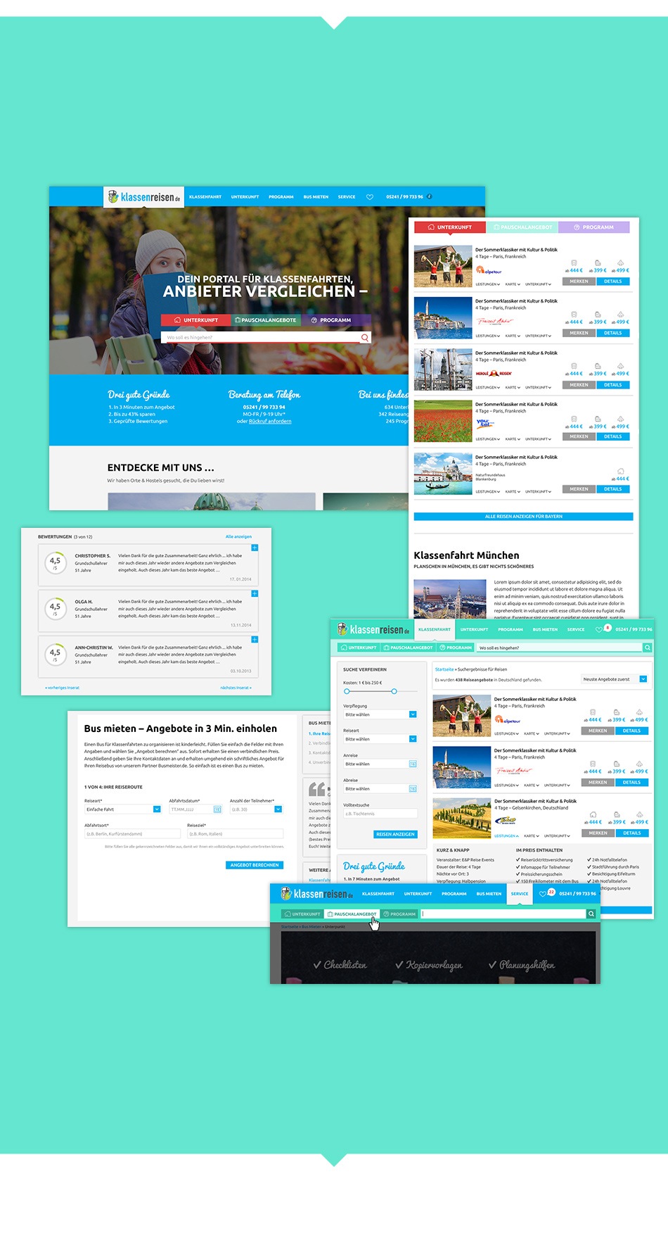 Website Klassenreisen