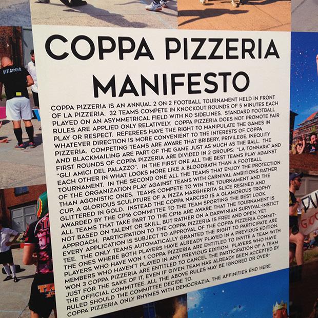Manifest von Coppa Pizzeria
