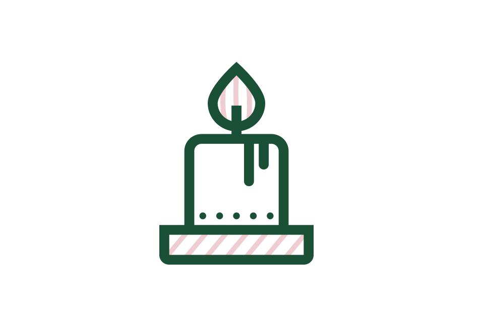 Icon Weihnachts-Kerze