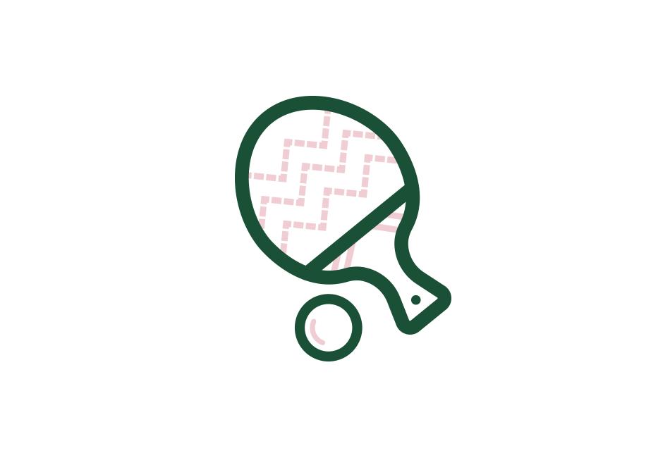 Icon Weihnachts-Tischtennisschläger