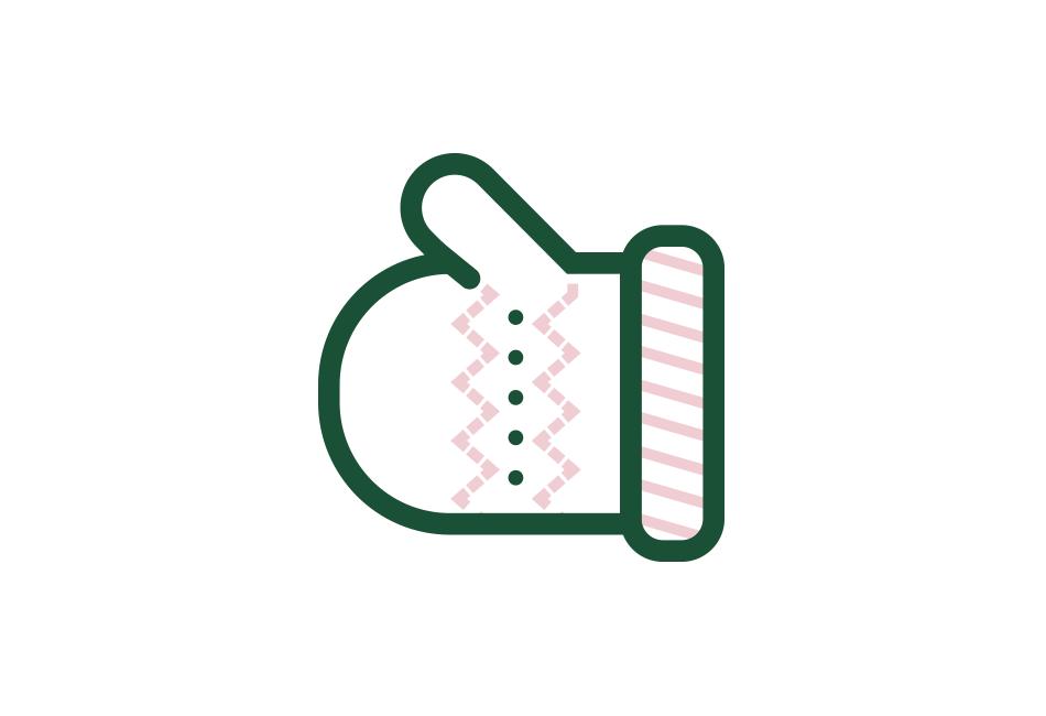 Icon Weihnachts-Handschuh