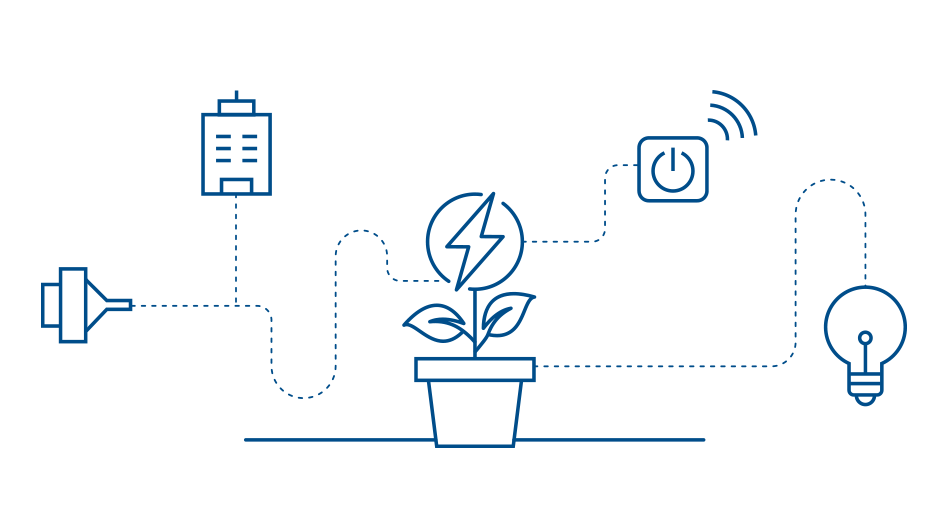 Infografik zum Thema digitalisierte Energieversorgung