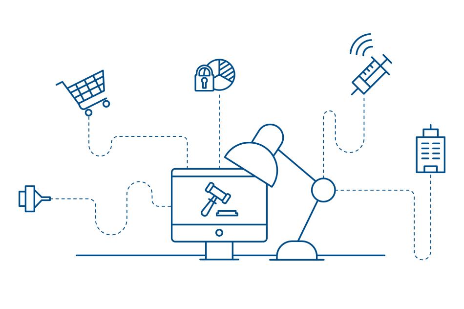 Infografik zum Thema Kernpunkte der Digitalisierung