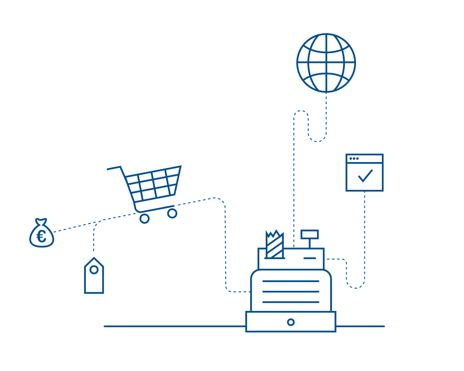 Infografik zum Thema digitaler Handel