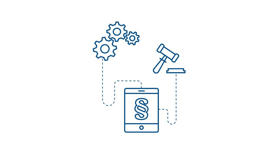 Infografik zum Thema Digitale Plattformen für Plan- und Genehmigungsverfahren