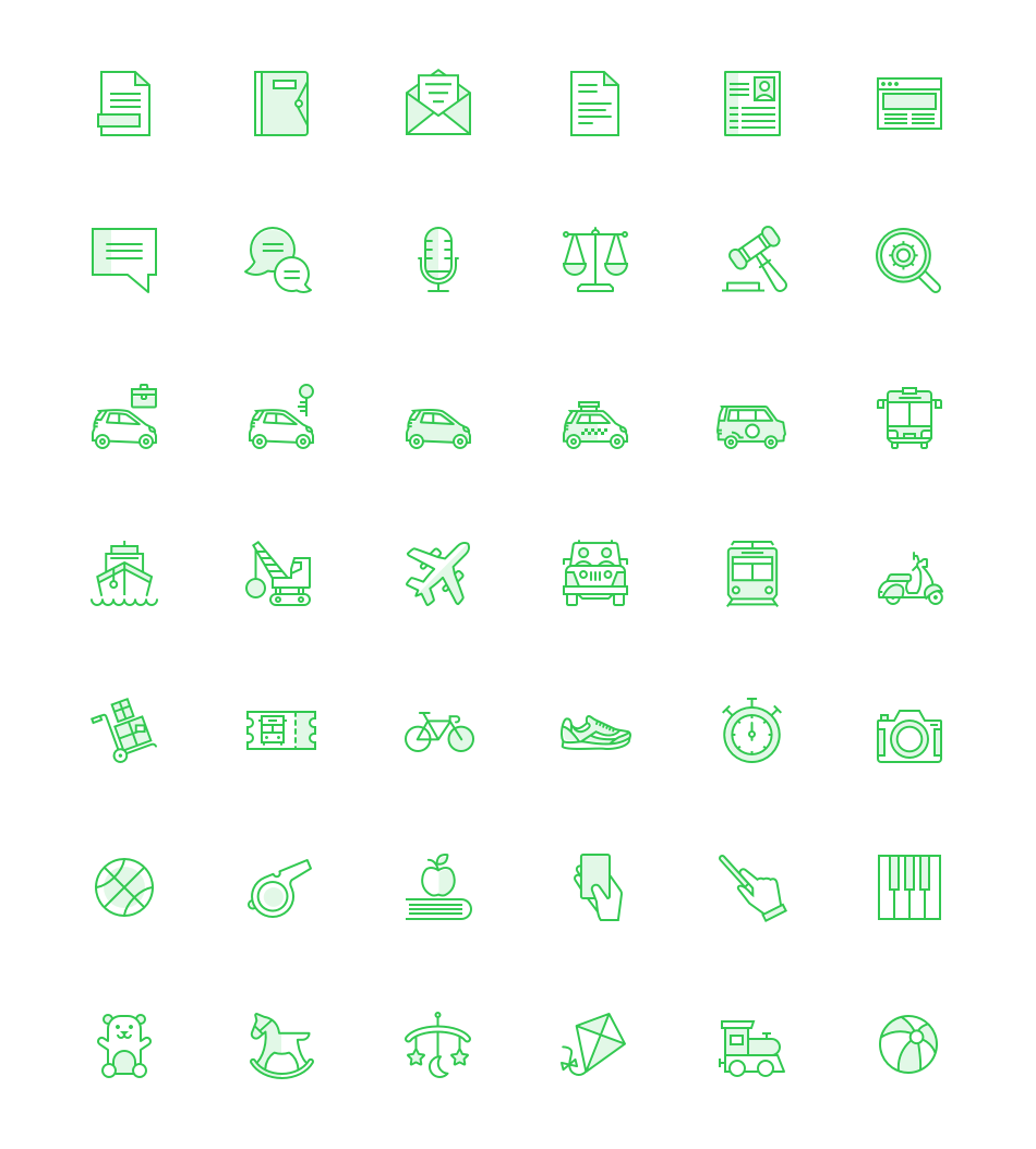 Extract questionnaire icons