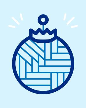 Icon Illustration von einer Weihnachtsbaumkugel