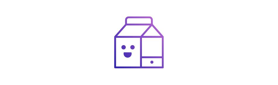 Milchtüten Icon Illustration